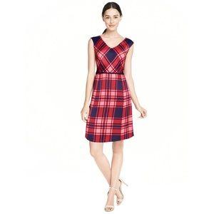 NWOT Draper James Road Blues Dress in Red Tartan